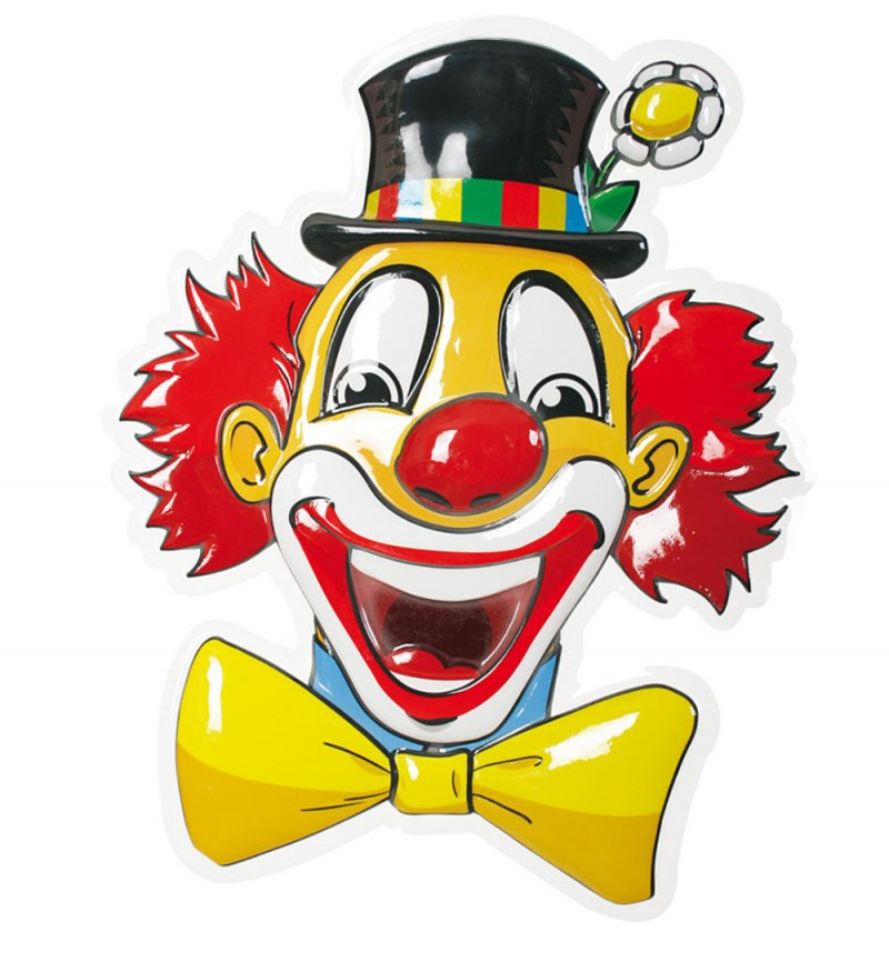 Clown_Wandbild_Portrait_Karneval