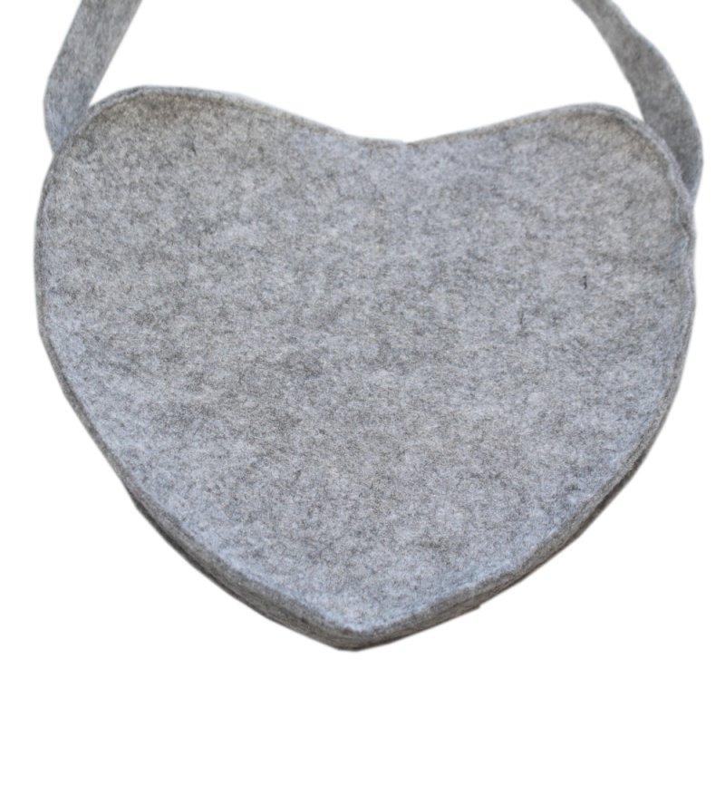 tasche oktoberfest in grau in filzoptik mit wei en verzierungen f r erwachsene handtasche zum. Black Bedroom Furniture Sets. Home Design Ideas