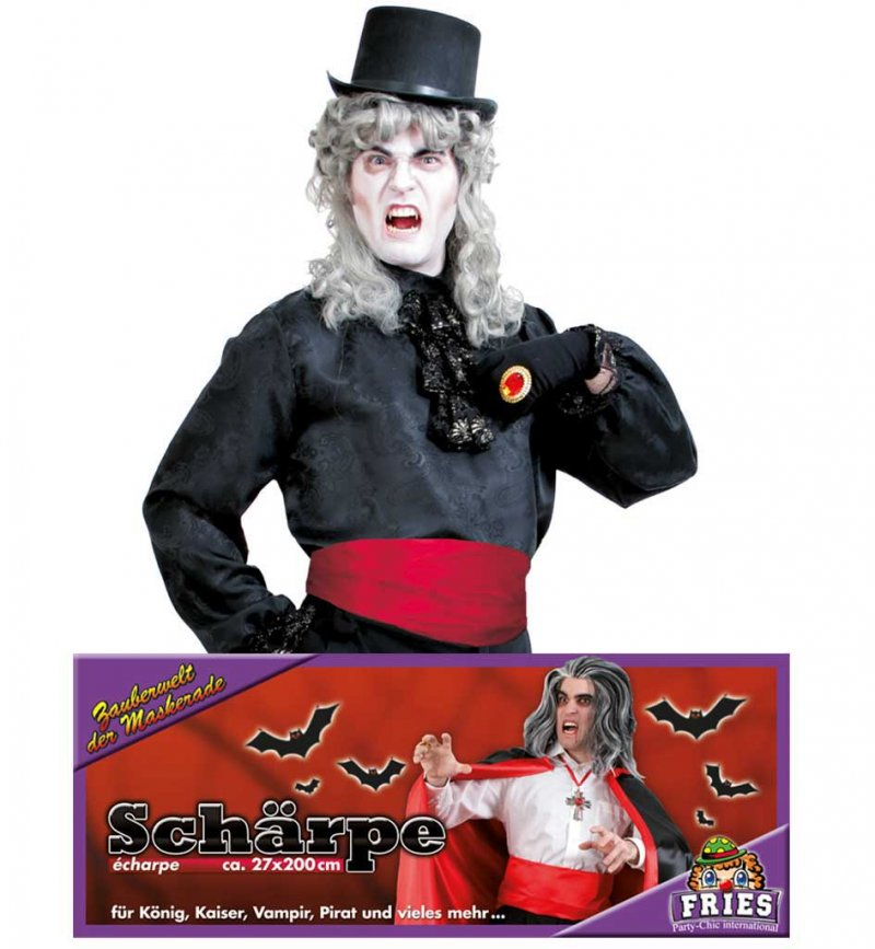 Halloween rote Schärpe, Halloween, Party, Karneval, Show, Mottoparty, Accessoire