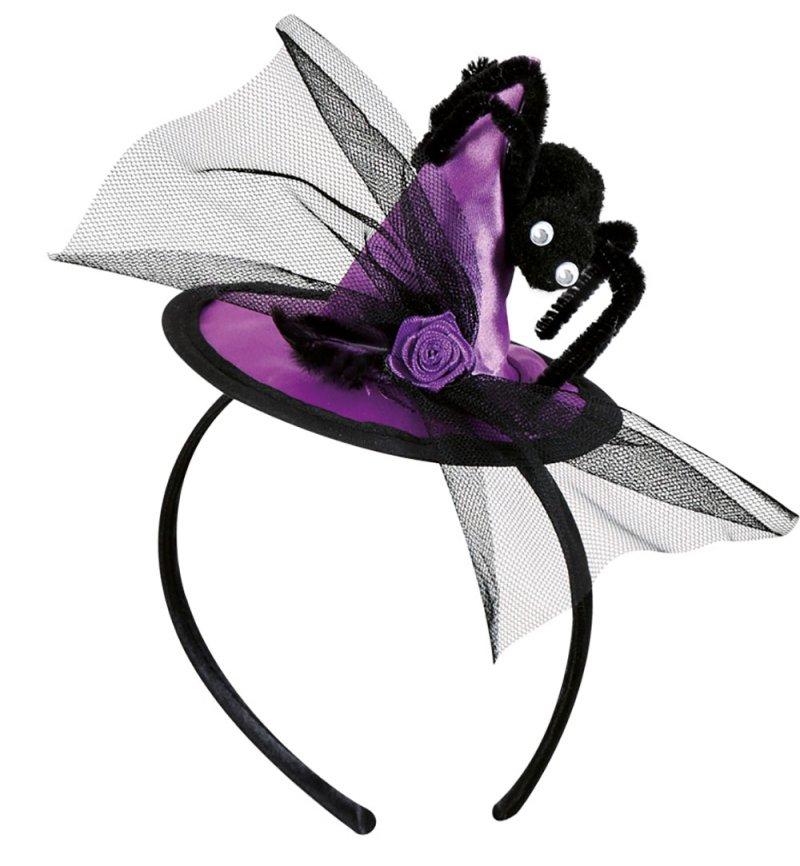 haarreif mit hexenhut in drei verschiedenen farben erh ltlich f r erwachsene halloween. Black Bedroom Furniture Sets. Home Design Ideas
