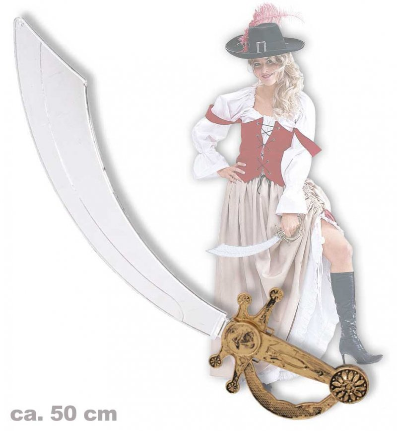 Piraten-Säbel, ca. 50 cm, Halloween, Karneval, Mottoparty, Accessoire