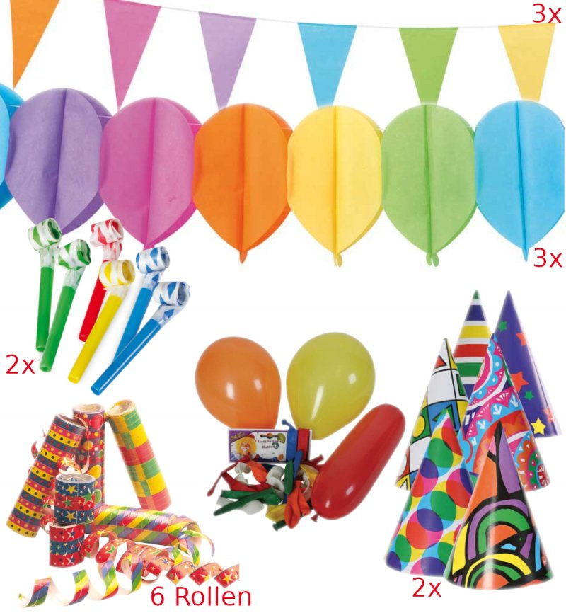 Rolle Luftschlangen Party Bunt Geburtstag Silvester