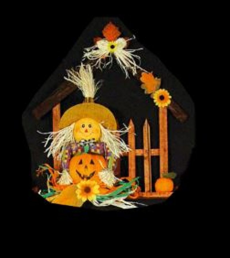 vogelscheuche im haus sortierte farben halloween herbst mottoparty deko. Black Bedroom Furniture Sets. Home Design Ideas