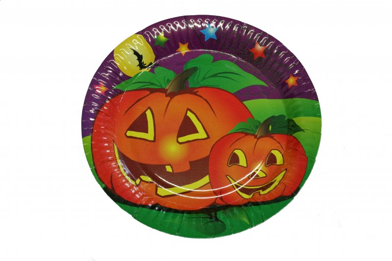 Halloween Gedeck, 10 Teller, Halloween, Party, Mottoparty, Einweggeschirr