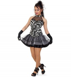 "Damenkleid ""Pretty Zebra"" Karneval, Fasching, Mottoparty"