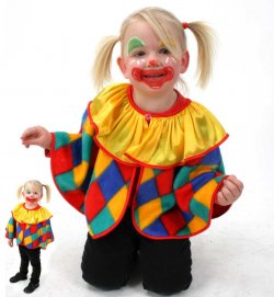 Cape Clown, Karneval, Fasching, Mottoparty, Kindergeburtstag