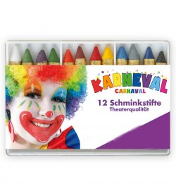 Bunte Schminkstifte 12er-Set Schminke Make-Up Theaterqualität