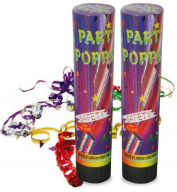 Silvester Popper 2er Pack Party-Popper