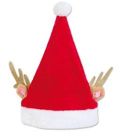 m tze nikolaus pl sch pink weihnachtsm tze kopfbedeckung. Black Bedroom Furniture Sets. Home Design Ideas
