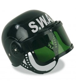 S.W.A.T.-Helm, klein, Karneval, Mottoparty, Fasching
