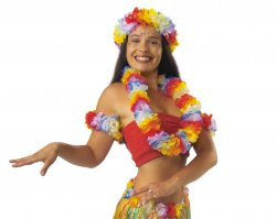 Hawaii-Set 4-tlg. Mottoparty Karneval Sommer-Accessoire Party