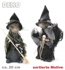 Deko-Ratte, sortierte Motive, Halloween, Mottoparty, Horror, Deko