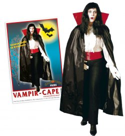 Halloween Vampir-Cape, wasserabweisend, Halloween, Party, Karneval, Vampir, Mottoparty