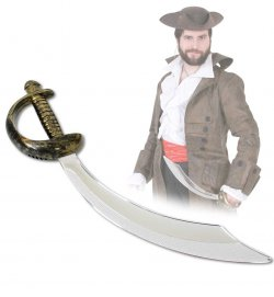 Piraten-Säbel, ca. 47 cm, Halloween, Karneval, Mottoparty, Accessoire