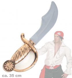 Piraten-Entermesser, ca. 35 cm, Halloween, Karneval