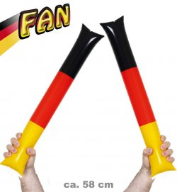 "Air Sticks ""Fan"" Deutschland, Germany, EM, WM, Fanartikel, schwarz-rot-gold"