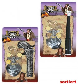 Piraten-Set sortierte Modelle, Fasching, Karneval, Fastnacht, Halloween, Piratenaccessoire