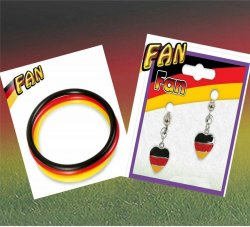 2-tlg. Fußball Fan Set, Germany, EM, WM